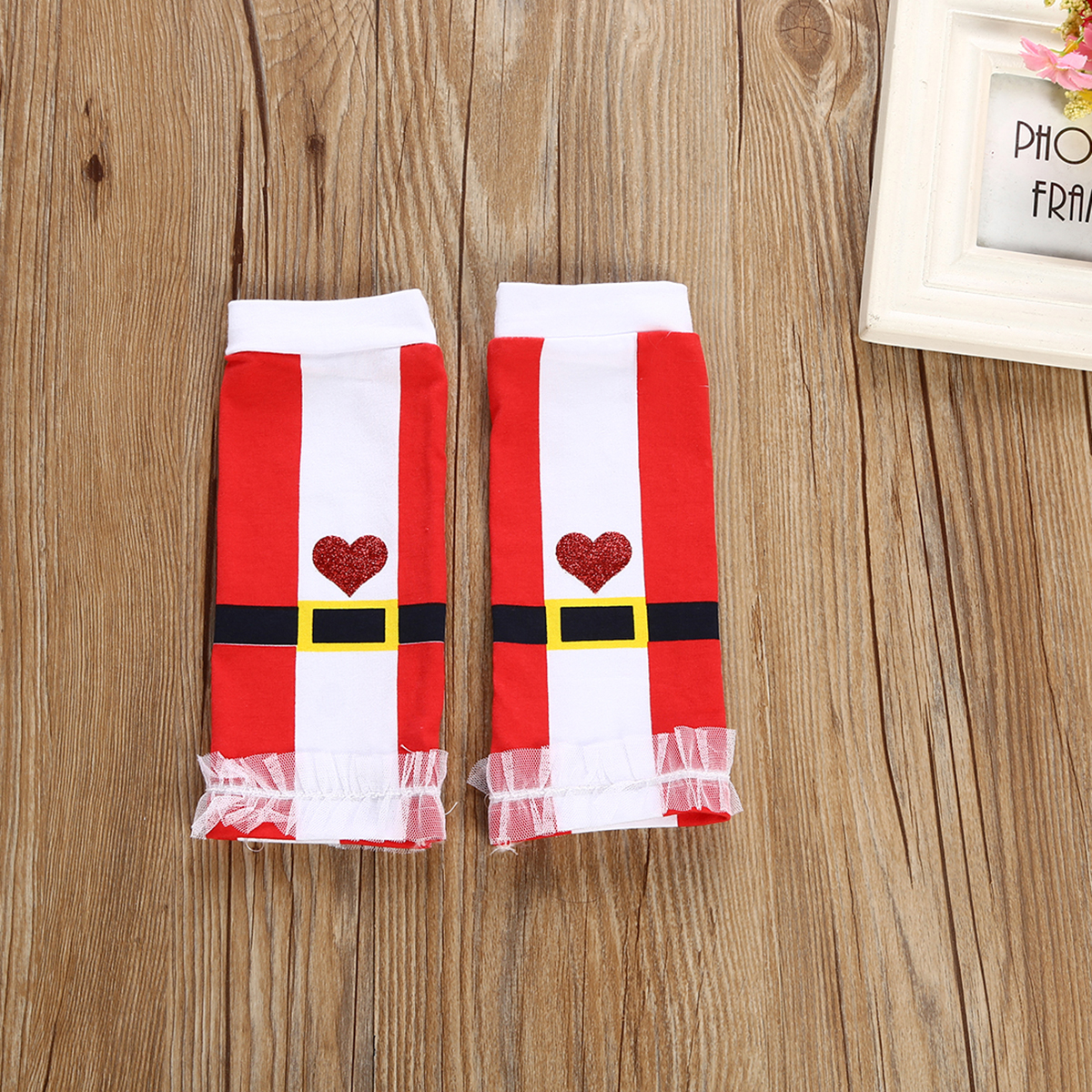 Christmas Autumn Baby Set 3pcs Newborn Baby Girls Romper Top Red Sequins Headband Leg Warmers Outfit Clothes Set in Clothing Sets from Mother Kids