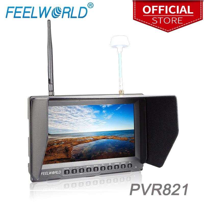 все цены на PVR821 8 Inch FPV Monitor with Built-in Battery Dual 5.8G 32CH Diversity Receiver and DVR Feelworld 800x480 Wireless Monitor онлайн