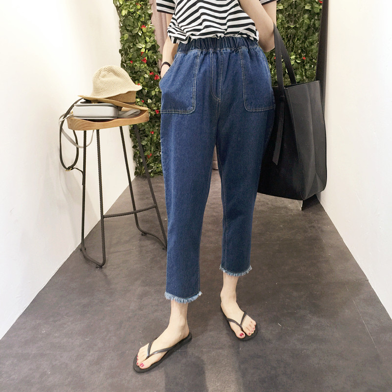Compare Prices on Elastic Waist Capri Jeans- Online Shopping/Buy ...
