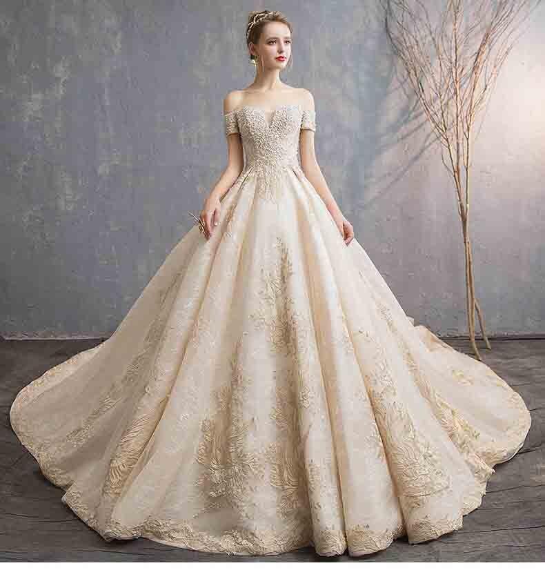 Robe de soirée Champagne de luxe personnalisée robe de soirée tapis rouge robe de mariée de mariage robe de bal pour dame grande taille 5XL