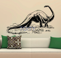 Dinosaur Wall Stickers Apatosaurus Vinyl Decals Nursery Decor Home Room Interior Design Art Murals for Children Kids Bedroom