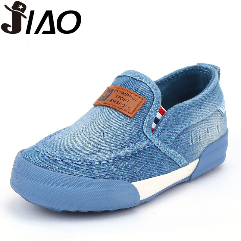 ff4e254a9a7a 2016 new fashion jeans cloth children canvas shoes boys girls new arrival  kids loafers PVC bottom EU24-37