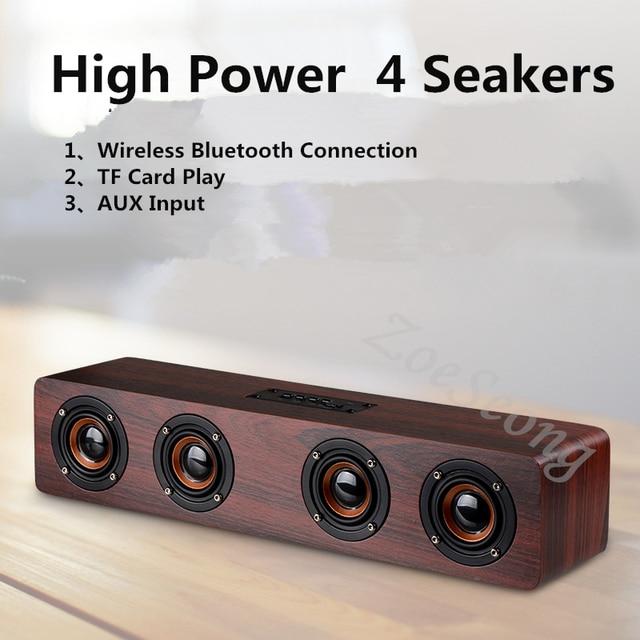 Home cinéma HiFi en bois sans fil Bluetooth haut-parleur Subwoofer combinaison haut-parleur système basse musique Center barre de son pour TV PC