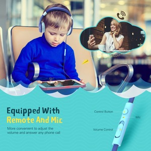 Image 3 - Mpow New Cute Wired Kids Headphones With Microphone Over Ear Hearing Protection Volume Limited Headphones For Kids Girls Boys