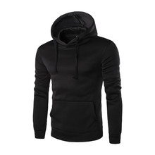 цена на Mens Hoodies Streetwear 2019 4 Colors Cotton Sports Outwear Men Pullover H003 Black Hoodie