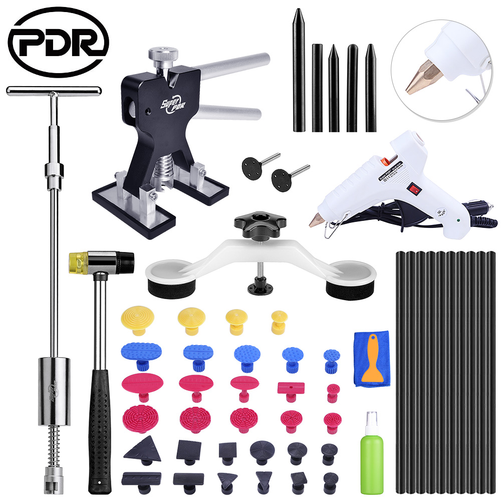 Car Body Repair PDR Tools Paintless Dent Removal Tool To Remove Dents Removing Dents Ding Hail Repair Hand Tool Set 500pcs stud welder draw pin set for removing dents car body sheet metal 2 0mm
