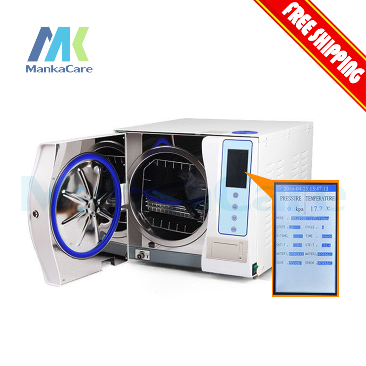 New Class B Autoclave With Printer 23 Liters Steam Sterilizer 23L Vacuum Steam Dental Sterilizer With CE Free Shipping