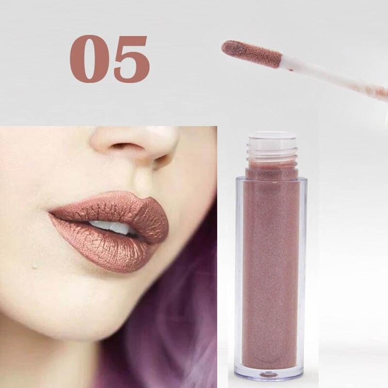 Women Fashion Glitter Lipstick Diamond Shine Lips Makeup Metallic Matte Lip Stick Lasting Waterproof Lipsticks 7