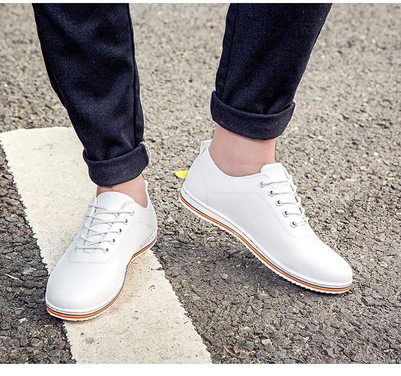 2018 Spring Men Casual Shoes Genuine Leather High Quality Breathable Brand sneaker Shoes for Men Drop Shipping