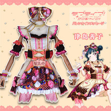 Anime Cosplay Costume lovelive sunshine Aqours Chocolate Valentines Day 3rd Edition Yoshiko Tsushima Dress lovely style