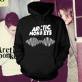 Arctic Monkeys Am Logo Soundwave Hooded Top Music Band Rock Punk Pullover Hoody Hoodie Hood Sweat shirt Top