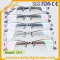 2319 elegante de alta qualidade para homens metade aro vidros ópticos miopia óculos óculos óculos
