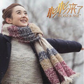 A401 cálido invierno bufandas Mujeres bufanda de punto grueso Largo de la bufanda de lana caliente