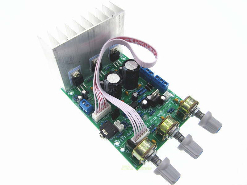 1PCS Tda2030a 2.1 3 audio encoding finished products subwoofer amplifier board tda2030 bass knob 4 1 channel lm4780 amplifier finished board ac 24v 28v 4x68w 130w subwoofer