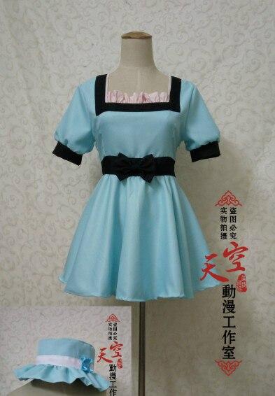 New Arrival Anime Steins Gate Shiina Mayuri Cosplay Costumes Custom Made Dress