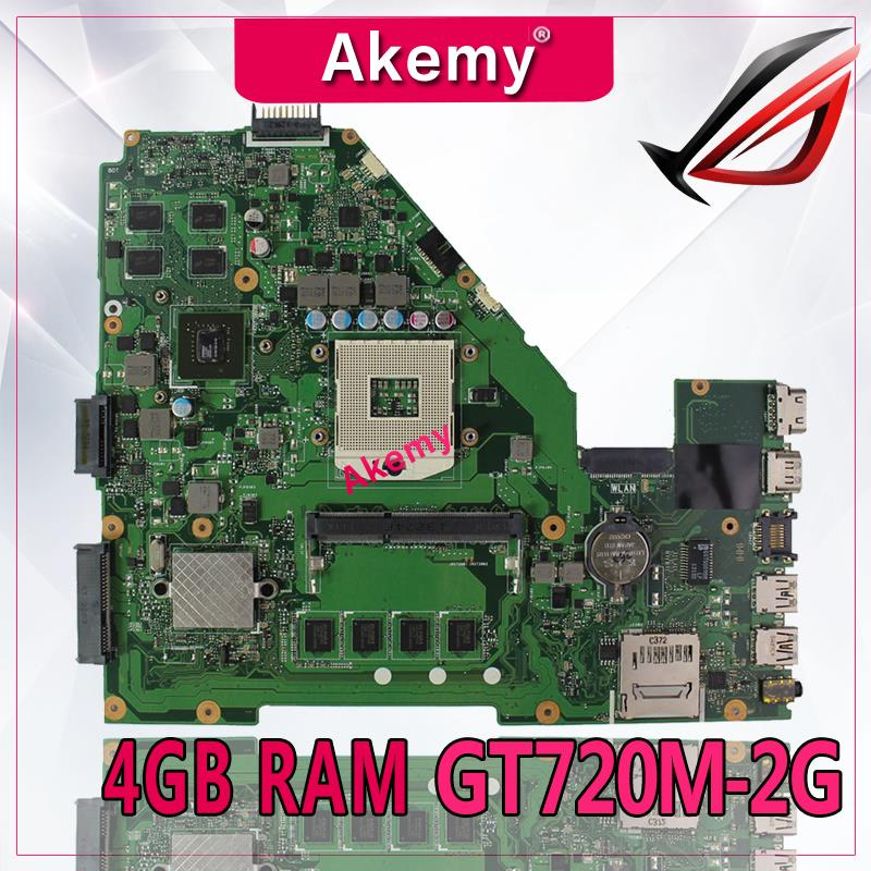 Akemy X550VC Laptop motherboard for ASUS X550VC R510V X550V X550 Test original mainboard 4G <font><b>RAM</b></font> GT720M-2G image