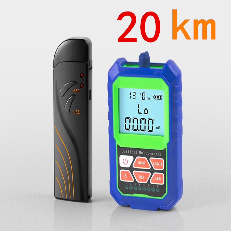 2 IN 1 High Accuracy Optical Power Meter with RJ45 Fiber Tester Self-Calibration with 6 Wavelengths 20KM Visual Fault Locator 2 IN 1 High Accuracy Optical Power Meter with RJ45 Fiber Tester Self-Calibration with 6 Wavelengths 20KM Visual Fault Locator