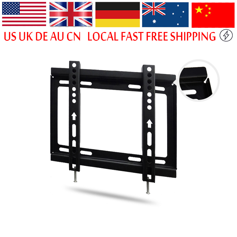 Flat Tv Wall Mount Bracket Lcd Led Screen For 14 Inch To