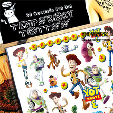 SHNAPIGN Toy Story Woody Buzz Child Temporary Tattoo Body Art Flash Tattoo Stickers 17*10cm Waterproof Henna Styling Sticker