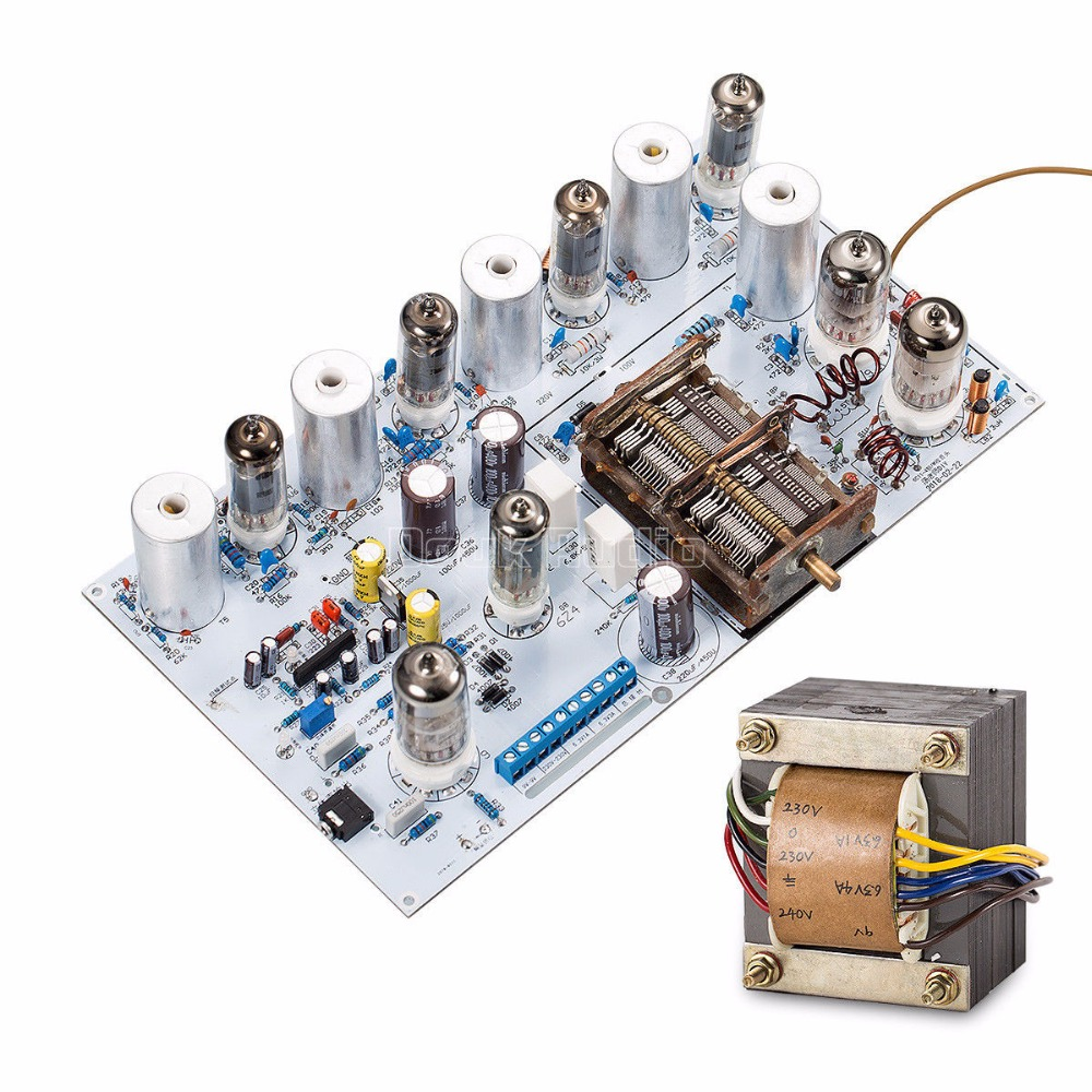 Douk Audio Vacuum Tube FM Radio Vintage HiFi Stereo Receiver Board + Transformer