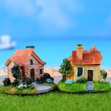 Miniature Garden Decoration Fairy Figurines Mini Castle Miniatures Villa Figurine Castles Terrarium