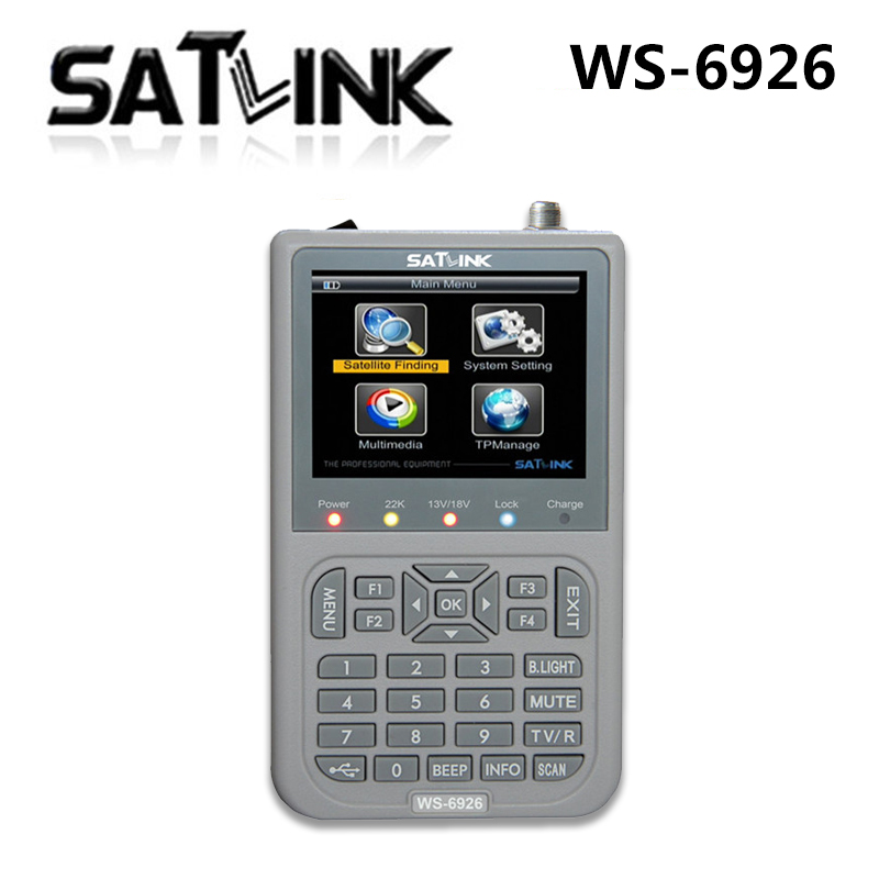 SZ Original Satellite satlink ws-6926 signal search meter 6926 3.5 Inch TFT LCD Screen Display fully DVB-S/DVB-S2 finder tv -65 1pc original satlink ws 6933 ws6933 dvb s2 fta c ku band digital satellite finder meter free shipping