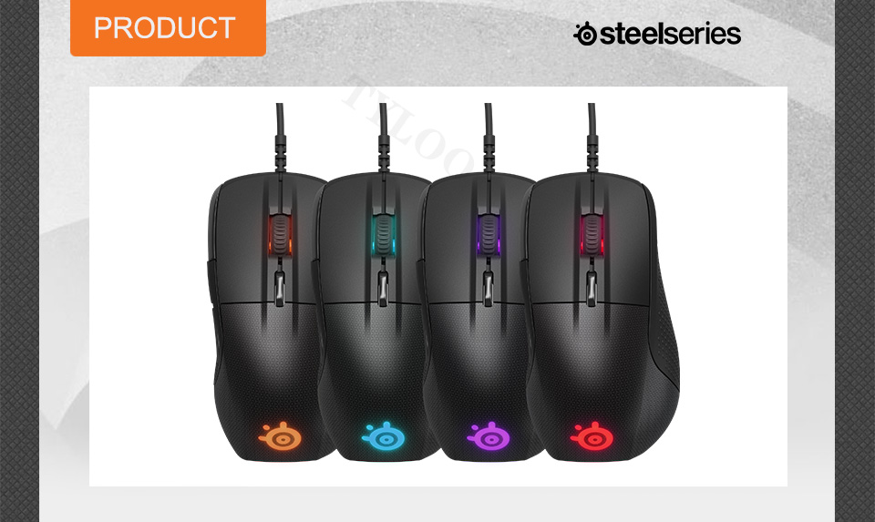 SteelSeries Rival 700 Gaming Mouse  USB Wired Mice 6500 DPI Optical Mouse Black Edition For FPS RTS MMO LOL Gamer Cheap 9