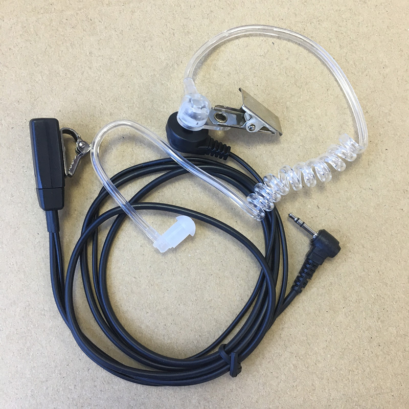 honghuismart Klar luftrør hovedtelefon 2.5mm til motorola t5428, t5720, t5620 t6200c, Hytera TC310 TC320 osv. walkie talkie