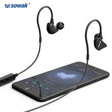 Original Sowak Bluetooth Earphone Wireless Sports Waterproof Sweatproof with Mic Noise Cancelling for iphone huawei samsung