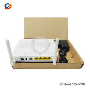 1PCS Free Shipping English software Original NEW Hua Wei HG8546M Gpon WiFi Ont onu 1GE+3FE+1USB+WiFi modem with EU adapter(China)