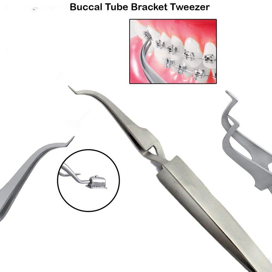 Dentale Ortodontico Posteriore Staffa B Tubo Buccale Legame Titolare Pinzetta Placer Strumento Strumento Dentista