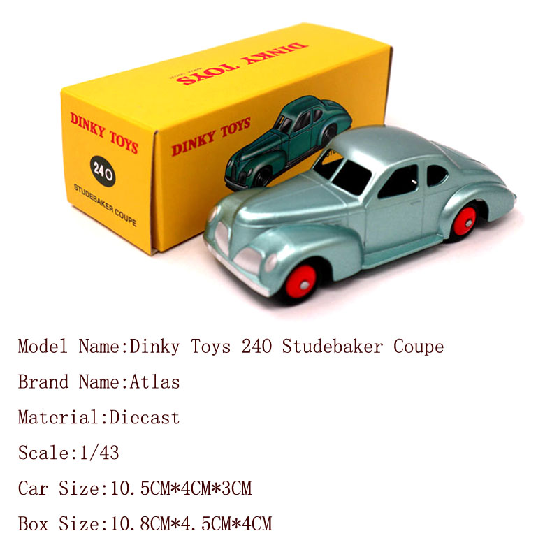 1//43 Atlas Dinky Toys 24O Studebaker Coupe Diecast Models Car Collection Gift