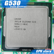 Free Shipping Intel Celeron G530 2M Cache 2.4 GHz L3=2M LGA 1155 TDP 65W desktop CPU processor (working 100%), sell G540(China)