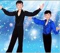Мальчик латинский танец носит комплект ребенок ча-ча выполнить износ малыш румба наряд современные / бальные танцы костюм танцевальная одежда 3 цвет бесплатная доставка