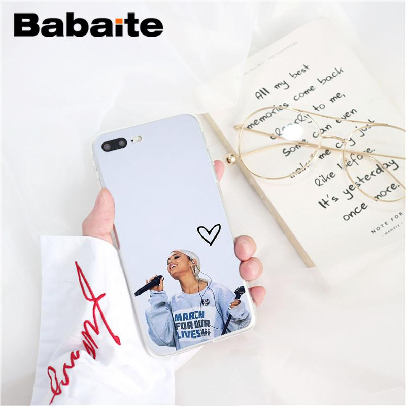 , Babaite ariana grande DIY Painted Phone Accessories Case for iPhone 8 7 6 6S Plus 5 5S SE XR X XS MAX 10 Coque Shell