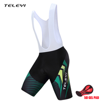 TELEYI 2017 Sports Cycling Bib Shorts Mens Quick Dry Anatomic Design 5D Coolmax Gel Pad Bike