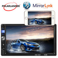7'' Touch Screen Mirror Link AUX USB TF 2 Din 2018 New 12V Multi languages Car Radio Stereo MP5 MP4 Bluetooth