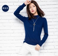 2016 Hot Sales New Style Womens Half High Collar Solid Color Cashmere Sweater Knitwear Pullovers High