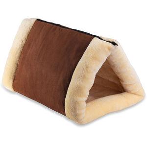 2-в-1 самонагревающийся Теплый кот Pet кровать-Тоннель портативный хлопок труба подушка коврик для собаки питомника ящик дом