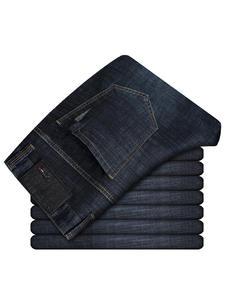 Brother Wang Men 2019 Slim Jean Trousers Black Pants