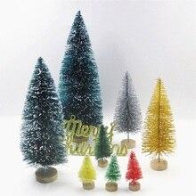10 шт. мини 45 см DIY Рождественская елка 6 цветов Снежный Мороз маленькая сосновая елка помещается в настольное украшение дома рождественские украшения