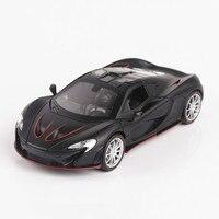 For McLaren P1 Alloy Car Model Diecast Pull Back Super Racing Car Sound and Light Pull Back Sport Car Children Speed Wheels 2018