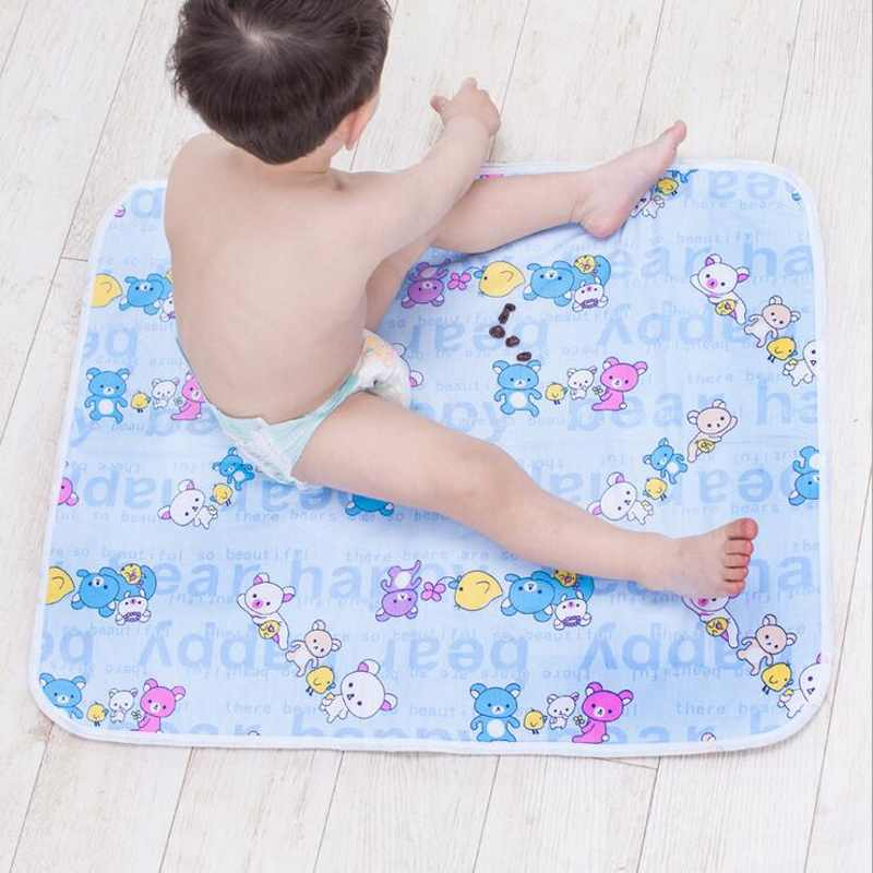 Newborn Baby Changing Pad Urinal Pad For Infant Child Bed Waterproof Cotton Cloth diaper inserts Changing Mat For Crib EVA