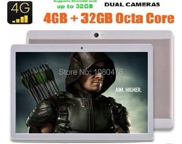 10 Inch Android Tablet PC 4G LTE Tab Pad 4GB RAM 64GB ROM Octa Core Play