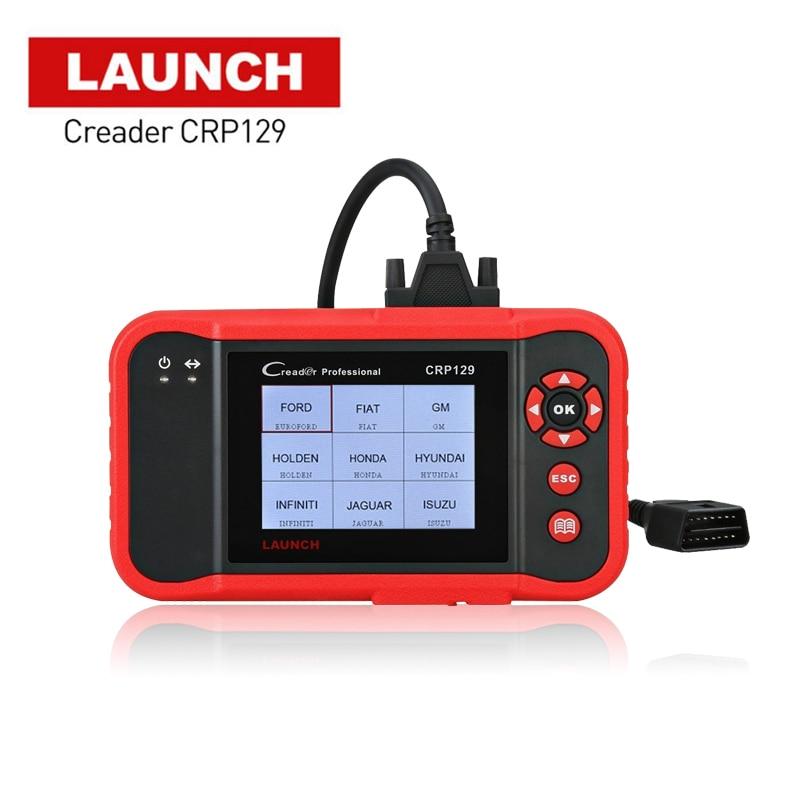 Scanner Launch X431 Creader CRP129 Auto Code Reader OBD2 Automotive Diagnostic Tool Machine Creader VIII 8 ENG AT ABS SRS Tools оригинальный launch creader vi поддержка нескольких языков creader 6 obd2 code reader обновление онлайн