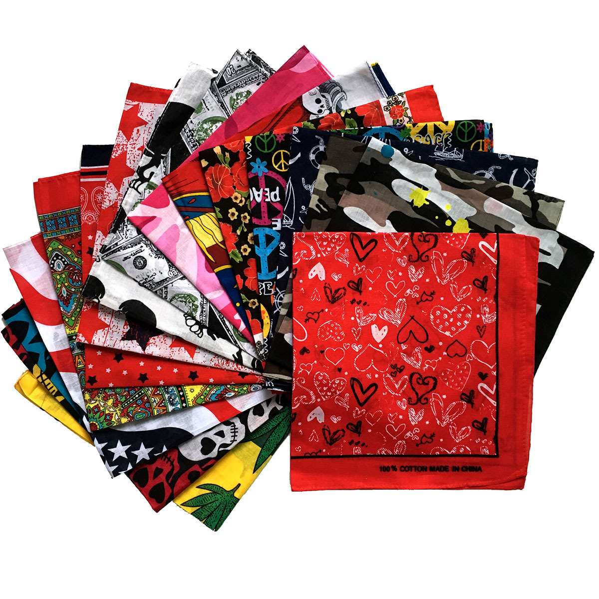 Multipurpose Unisex Paisley Bandanas Hair Bands Hip-hop Flame Head Wrap Scarf Wristscarf Accessories For Men Woman