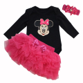 New 2017 Baby Birthday gift Newborn Infant Rompers Baby Girl Cotton Minnie Bodysuit Tutu Skirts Dresses Suit Toddler dress sets