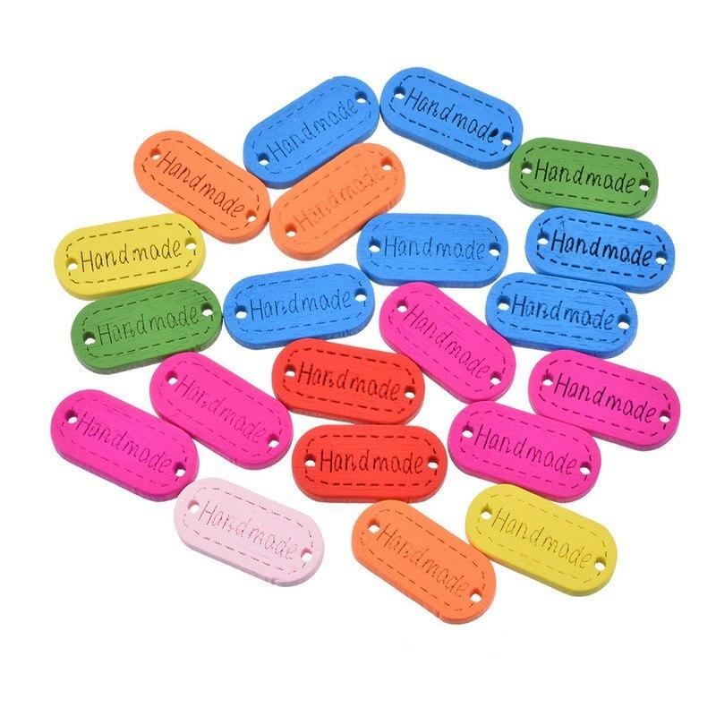 Urijk 20/100 шт. деревянные пуговицы для одежды Рукоделие швейные ручной работы письмо декоративные детская кнопку ремесло и скрапбукинг