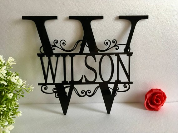 hallway key Personalised family coat Personalised Monogram Hooks Initial bedroom   rack pegs leash custom letter
