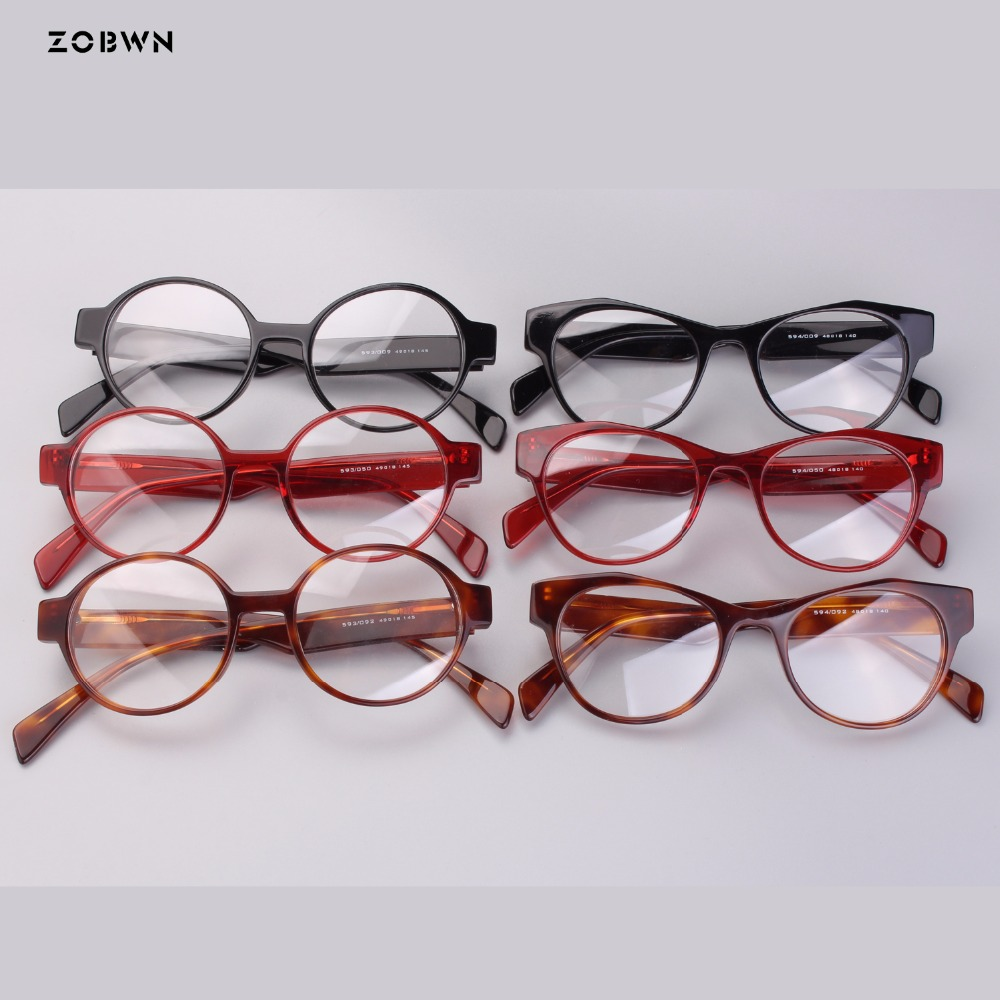 Fashion round lady eyeglasses for Reading Glasses Men Women Readers Small Ultra-light Eyeglasses Hyperopia acetate retro Glasses